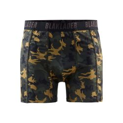 Boxers - Pack X2 Vert Olive/Noir L