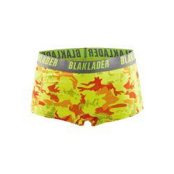 Boxers femme - pack X2 Jaune fluo/Gris Z