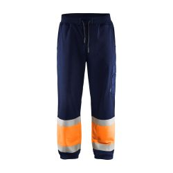Jogging haute-visibilité Marine/Orange fluo XL