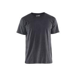 T-shirt Noir mélangé XXXL