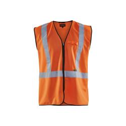 Gilet zippé haute visibilité Orange fluo TU